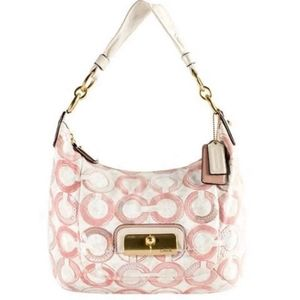 Coach Kristin Pink Sequin Op Art Shoulder Bag